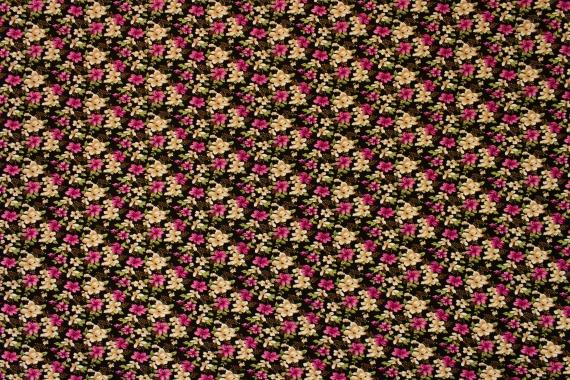 Трикотаж с цветочным принтом 019