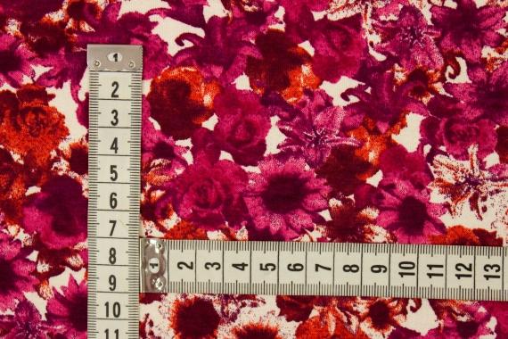 Трикотаж с цветочным принтом 021