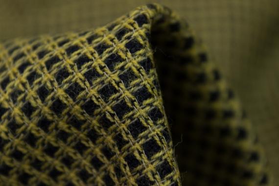 Плательно- костюмная шерсть в клетку 10735