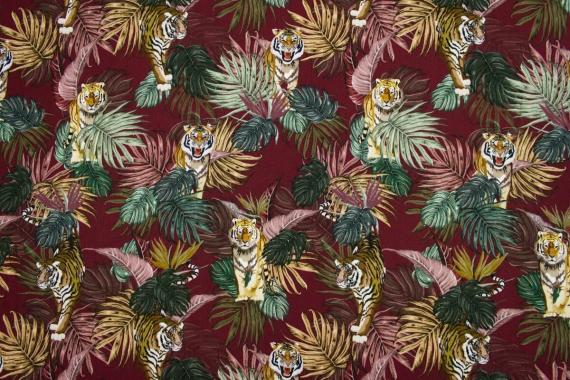 Штапель  тигры в листьях 13717