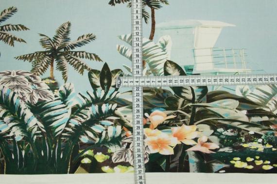 Хлопок цветы и пальмы 13721