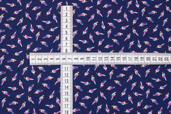 Штапель с попугайчиками 13821