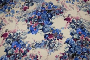 Трикотаж с цветами 13551