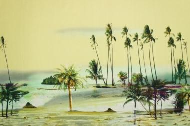 Хлопок с каймой пальмы 13839
