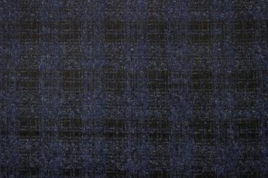 Костюмно- пальтовая клетка синяя 08\19-010